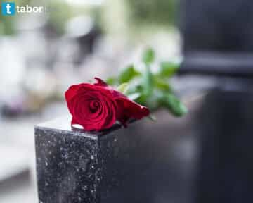 Red Rose on Headstone